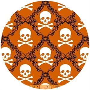 Rosemarie Lavin, Raven, Skull Damask Orange