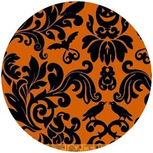 Rosemarie Lavin, Raven, Spooky Tapestry Orange