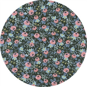 AVAILABLE FOR PREORDER, Rifle Paper Co. for Cotton and Steel, Menagerie, Rosa Hunter Metallic