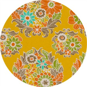 Cosmo Textiles, OXFORD, Round Wreath Mustard
