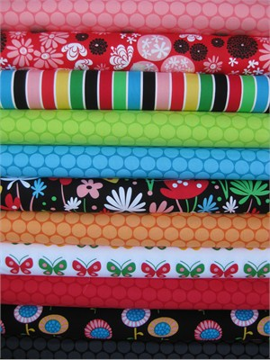 Robin Zingone, Flirty Flowers in FAT QUARTERS 11 Total