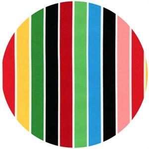 Robin Zingone for Robert Kaufman, Flirty Flowers, Multi Stripe Bright