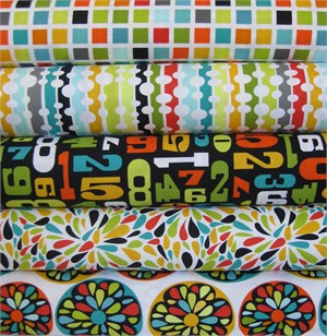 Robin Zingone for Robert Kaufman, Modern Citrus in FAT QUARTERS, 5 Total