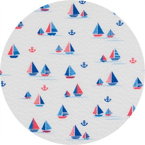 Cosmo Textiles, SEERSUCKER, Sailing Seas White