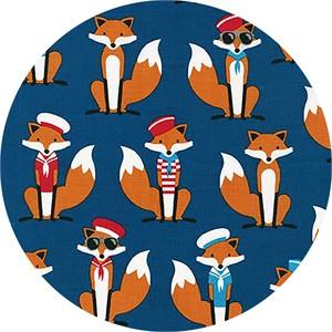 Andie Hanna for Robert Kaufman, Fabulous Foxes, Sailor Navy