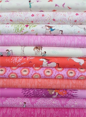 Sarah Jane, Wee Wander, Magenta in FAT QUARTERS 10 Total