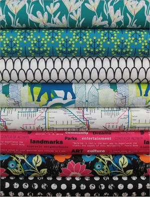 Sara Lawson for Art Gallery, Jungle Ave. in FAT QUARTERS 6 Total