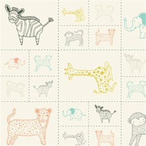 "Moda, Savannah, Critters Galor Panel Multi (24"" Panel)"