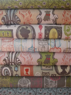 Sarah Watts, Cushion & Dust, Entire Collection in FAT QUARTERS 8 Total
