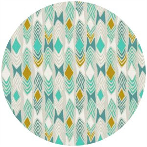 Sarah Watts for Cotton and Steel, August, Diamond Back Aqua