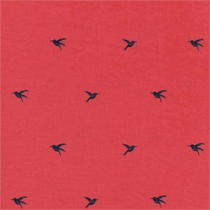 Sarah Watts for Cotton and Steel, Honeymoon, Colibri Coral