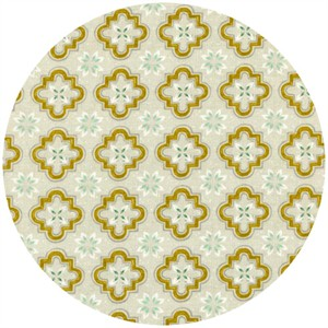 Sarah Watts for Cotton and Steel, Honeymoon, Porch Tile Mustard
