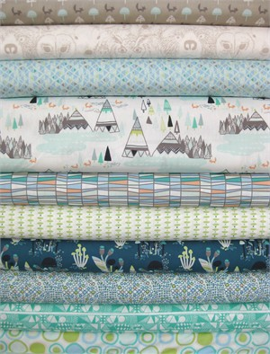Sarah Watson, Indian Summer, Spirit Lake in FAT QUARTERS 10 Total