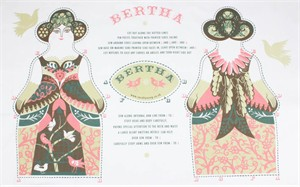 Sarah Young, Tea Towel Plushies, Bertha