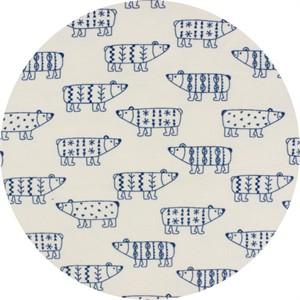 Cosmo Textiles, FLANNEL, Scandinavian Bears Cream
