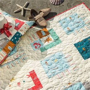 Free Pattern   Sea Squared Quilt   By Belén Sabi