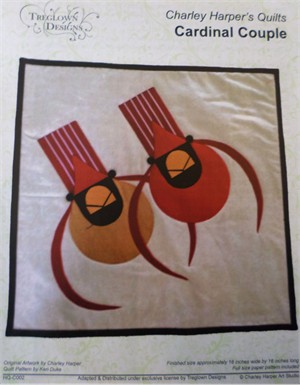 Sewing Pattern, Charley Harper's Quilts, Cardinal Couple by Treglown Designs