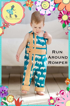 Sewing Patterns, The Cottage Mama, Run Around Romper