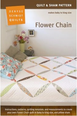 Sewing Patterns, Denyse Schmidt Quilts, Flower Chain Quilt & Sham Pattern