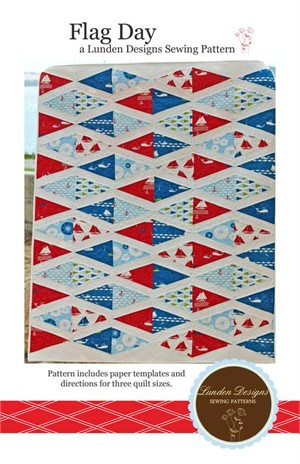 Lunden Designs, Sewing Pattern, Flag Day Quilt Pattern