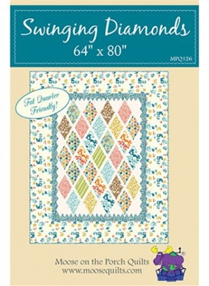 Sewing Pattern, Moose on the Porch Quilts, Swinging Diamonds Quilt Pattern