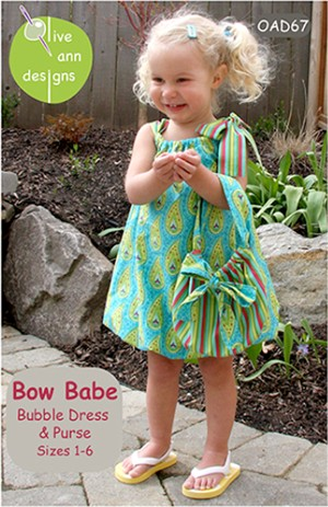 Olive Ann Designs, Sewing Pattern, Bow Babe