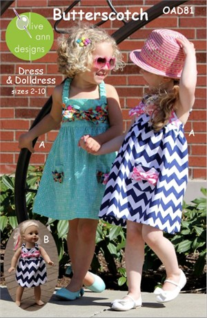 Sewing Patterns, Olive Ann Designs, Butterscotch Dress