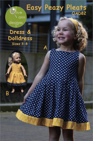 Sewing Patterns, Olive Ann Designs, Easy Peazy Pleats Dress