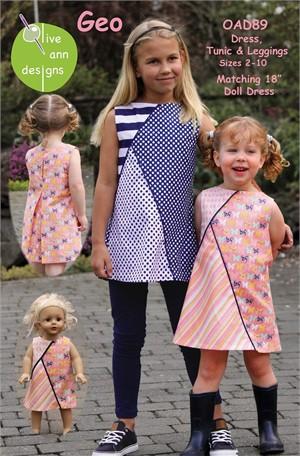Sewing Pattern, Olive Ann Designs, Geo