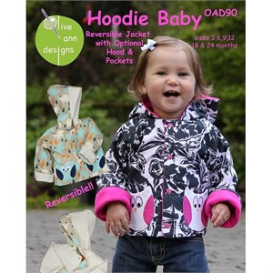 Sewing Pattern, Olive Ann Designs, Hoodie Baby