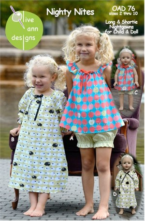 Sewing Patterns, Olive Ann Designs, Nighty Nites