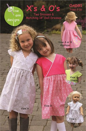 Sewing Pattern, Olive Ann Designs, X's and O's
