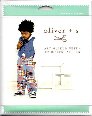 Oliver + S, Sewing Pattern, Art Museum Vest + Trousers (5-12)