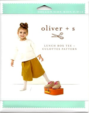 Oliver + S, Sewing Pattern,  Lunch Box Tee + Culottes (6m-4)