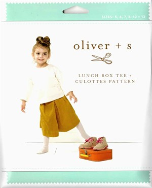 Oliver + S, Sewing Pattern, Lunch Box Tee + Culottes (5-12)