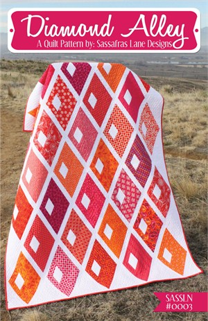 Sewing Pattern, Sassafras Lane Designs, Diamond Alley Quilt Pattern