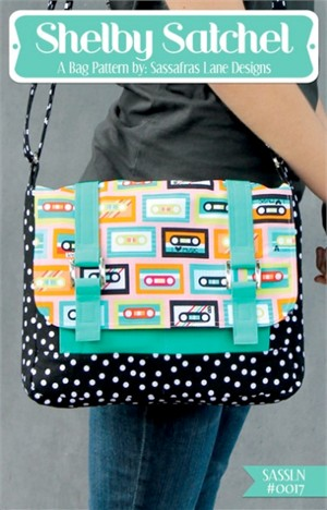 Sewing Pattern, Sassafras Lane Designs, Shelby Satchel