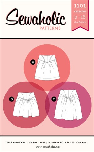 Sewing Pattern, Sewaholic, Crescent Skirt