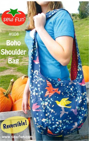 Sewing Pattern, Sew Fun, Boho Shoulder Bag
