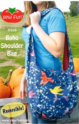 Sewing Pattern, Sew Fun, Boho Shoulder Bag