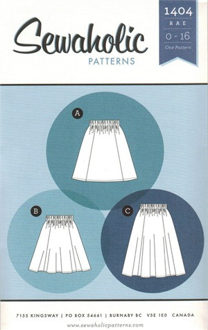 Sewing Pattern, Sewaholic, Rae Skirt