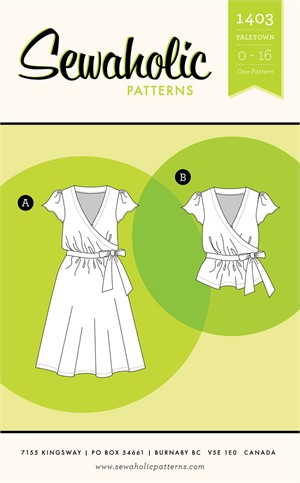 Sewing Pattern, Sewaholic, Yaletown