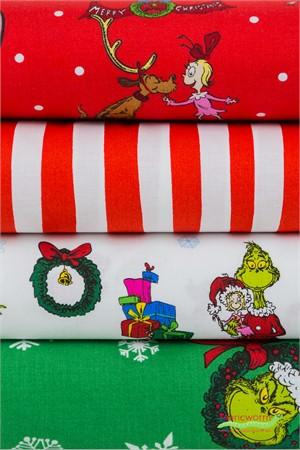 Fabricworm Custom Bundle, Seuss Christmas in FAT QUARTERS 4 Total