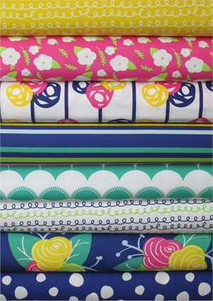 Sew Caroline for Art Gallery, Gleeful in FAT QUARTERS 8 Total