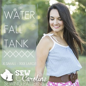 Sew Caroline Patterns, Waterfall Tank