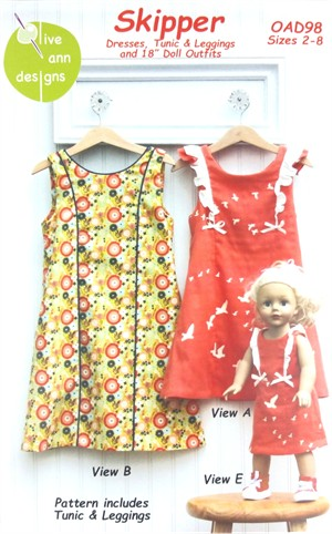 Olive Ann Designs, Sewing Pattern, Skipper