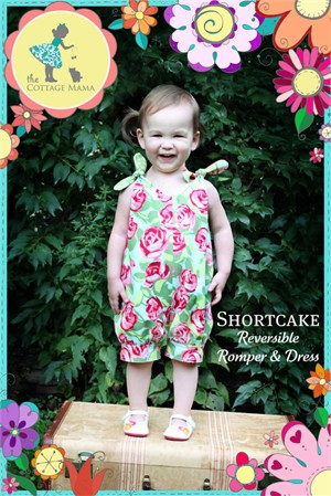 Sewing Patterns, The Cottage Mama, Shortcake Reversible Romper & Dress
