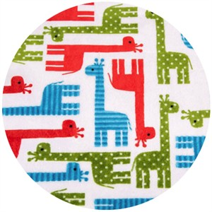 Shannon Fabrics, Ann Kelle, Giraffe Cherry