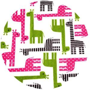 Shannon Fabrics, Ann Kelle, Minky, Giraffe Fuchsia