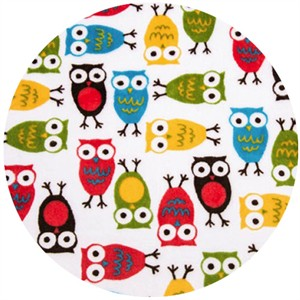 Shannon Fabrics, Ann Kelle, Minky, Night Owls Cherry